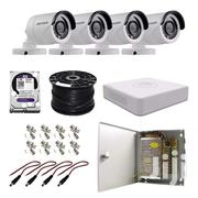 4 Cctv Camera Set | Cameras, Video Cameras & Accessories for sale in Mombasa, Tudor