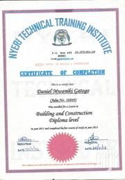 Construction Skilled Trade CV | Construction & Skilled trade CVs for sale in Nyeri, Wamagana