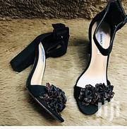 Fashion Black Chunky Open Toe Adjustable Ankle Strap Heel | Shoes for sale in Mombasa, Majengo