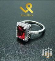 Semi Precious  CZ Ruby Genuine Silver Engagements Wedding Ring | Jewelry for sale in Nairobi, Nairobi Central