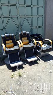 Gold And Black Barber Seat And Sink | Salon Equipment for sale in Nairobi, Embakasi