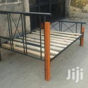 6x6 Metal Wood Bed | Furniture for sale in Mombasa, Bamburi