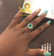 Party Cocktail Emerald Genuine Silver Engagement Ring | Jewelry for sale in Nairobi, Nairobi Central