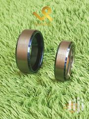 Bevelled Blue Edges Men 8mm Tungsten Carbide Wedding Ring Band | Jewelry for sale in Nairobi, Nairobi Central