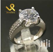 Genuine Silver Round Cut Cushion Setting Ladies Engagements Ring | Jewelry for sale in Nairobi, Nairobi Central