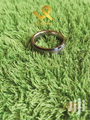 6mm Blue Bevelled Edges Unisex Tungsten Carbide Wedding Rings | Jewelry for sale in Nairobi, Nairobi Central