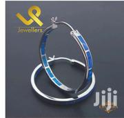 Genuine Asian Blue Fire Opal   925 Sterling Hoop Silver Earrings | Jewelry for sale in Nairobi, Nairobi Central