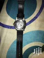 Fossil Modern Machine Men's Silver Dial Leather Band Automatic Watch | Watches for sale in Mombasa, Shimanzi/Ganjoni
