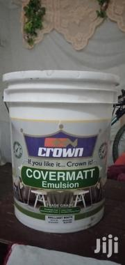 Crown Paint 20 Litres Brilliant White Covermatt Emulsion | Building Materials for sale in Nakuru, Nakuru East