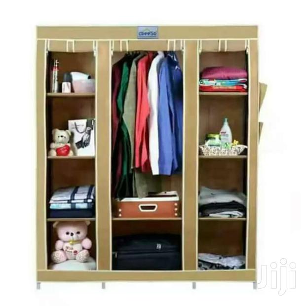 Archive: Portable Wooden Frame Wardrobe