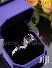 Sterling Silver CZ Amethyst Couple Rings. | Jewelry for sale in Nairobi, Nairobi Central