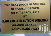 Both Metal And Plastic Plaques | Manufacturing Services for sale in Nairobi, Nairobi Central