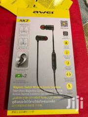 Awei AK7 Water-proof Magnetic Adsorption Wireless Bluetooth Earphones | Accessories for Mobile Phones & Tablets for sale in Nairobi, Nairobi Central
