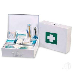 Workplace First Aid Kit Metallic Large Well Equipped Mountable Deliver