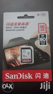 Sandisk Memory SD Card 16GB Class 10 SDHC UHS-I Ultra-fast 80MB/S | Accessories for Mobile Phones & Tablets for sale in Nairobi, Kahawa