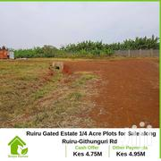 Ruiru Guthunguri Rd, Gated 1/4 Acre Residential Plots on Offer | Land & Plots For Sale for sale in Kiambu, Kalimoni