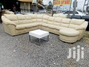Ex Europe Lshaped 8 Seater Leather Seat | Furniture for sale in Kajiado, Kitengela