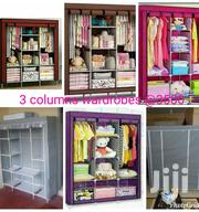 Durable Three Columns Wooden Frame Portable Wardrobes Available | Furniture for sale in Nairobi, Kahawa West