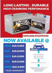 Turbo Car Batteries Free Maintenance | Vehicle Parts & Accessories for sale in Nairobi, Kilimani