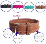 Leather GYM Belt Powerlifting Crossfit Weightlifting Squat Deadlift | Sports Equipment for sale in Kajiado, Ongata Rongai