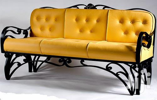 Yellow 3 Seater Sofa