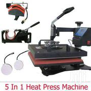 5 In 1 Heat Press Machine Swing Away Sublimation T-shirt/Mug/Plate Hat | Printing Equipment for sale in Nairobi, Nairobi Central