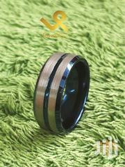 Centre Blue Grove With Bevelled Edges Tungsten Men Wedding Ring | Jewelry for sale in Nairobi, Nairobi Central