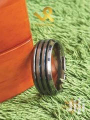 Tripple Metallic Blue Groove With Bevelled Edges Tungsten Men Wedding | Jewelry for sale in Nairobi, Nairobi Central