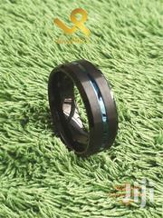 Centre Blue Groove Tungsten Carbide Wedding Band Ring | Jewelry for sale in Nairobi, Nairobi Central
