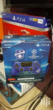 Ps4 Controller Ps4 Pad Blue Wireless Limited Edition UEFA Customised | Video Game Consoles for sale in Nairobi, Nairobi Central
