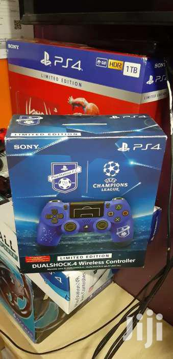 Ps4 Controller Ps4 Pad Blue Wireless Limited Edition UEFA Customised