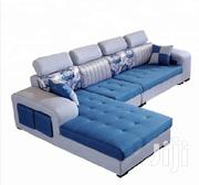 White And Blue Leather Sifa | Furniture for sale in Uasin Gishu, Kimumu
