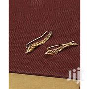 Bezel Golden Leaf Clip Earings | Jewelry for sale in Nairobi, Nairobi Central