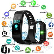 Y5 Wristband Heart Rate Blood Pressure Monitor Fitness Tracker | Smart Watches & Trackers for sale in Nairobi, Nairobi Central