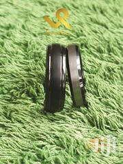 Unisex Domed And Stepped Edges Matte Black Tungsten Carbide Bands | Jewelry for sale in Nairobi, Nairobi Central