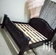Very Strong 5x6 Bed Made Of Mahogany Wood | Furniture for sale in Nairobi, Embakasi