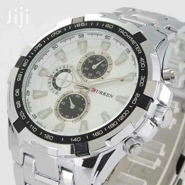 CURREN 8023 Sliver White Watch