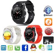 V80 Touch Screen Smart Watch Phone With SIM Slot Black | Smart Watches & Trackers for sale in Nairobi, Nairobi Central