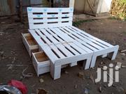 5 by 6 Pallet Beds With 2 Side Drawers | Furniture for sale in Kiambu, Theta