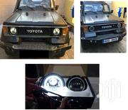 Toyota LJ70 Landcruiser: 7 Inch LED Headlights With Angel Eye Rings | Vehicle Parts & Accessories for sale in Nairobi, Nairobi Central