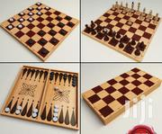 3 In 1 Foldable Wooden Chess Board Game (Chess, Checkers, Backgammon) | Books & Games for sale in Nairobi, Nairobi Central