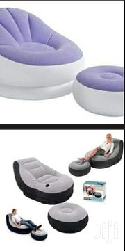 Inflatable Seat With A Footrest And A Manual Pump | Furniture for sale in Nairobi, Nairobi Central