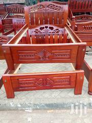 Stylish Modern Quality Ready Made 5by6 Mahogany Bed | Furniture for sale in Nairobi, Ngara