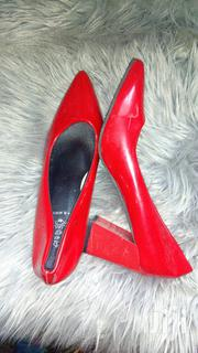 Red Block Heels Size 38/39 Contact | Shoes for sale in Mombasa, Majengo