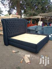 6x6 Buttoned Bed | Furniture for sale in Nairobi, Ngara