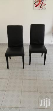 2 Black Leather Covered Dining Table Chairs   Furniture for sale in Mombasa, Bamburi