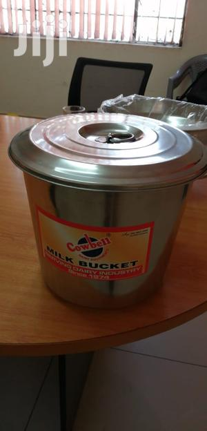 Milk Bucket With Lid Cover Stainless Steel