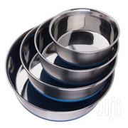 Stainless Steel Dog Feeding Bowls With Anti Skid Base | Pet's Accessories for sale in Nairobi, Nairobi Central