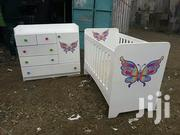 Stylish Modern Quality Baby Cot Together With Its Chest Drawer | Children's Furniture for sale in Nairobi, Ngara