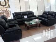 Black Leather Recliner 7 Seater Sofa Sets | Furniture for sale in Nairobi, Imara Daima